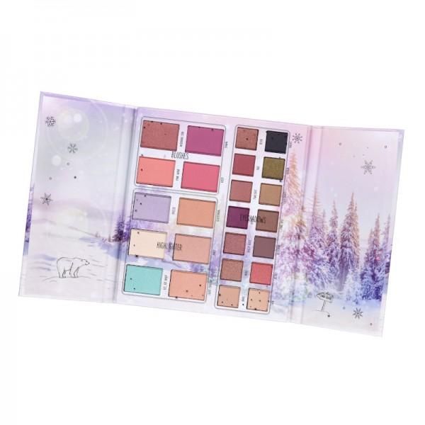 essence - Lidschattenpalette - into the snow glow - face & eye palette 01