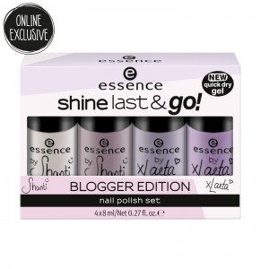 essence - online exclusives - shine last & go! blogger edition nail polish set