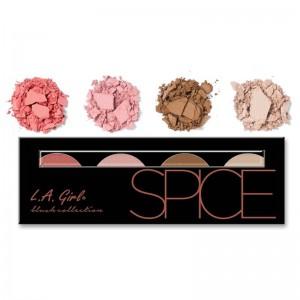 LA Girl - Makeuppalette - Beauty Brick Blush Collection - Spice