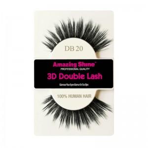 Amazing Shine - Falsche Wimpern - 3D Double Lash - DB20 - Echthaar