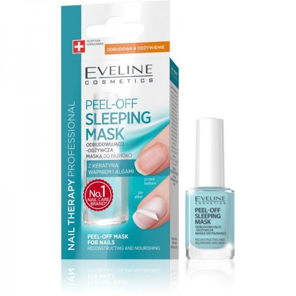 Eveline Cosmetics - Nagelmaske - Nail Therapy Professional Peel-Off Schlafmaske für Nägel