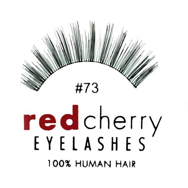 Red Cherry - False Eyelashes No. 73 Madison - Human Hair