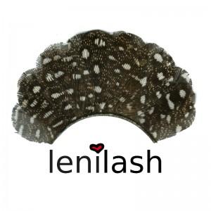 lenilash - Falsche braun-weiße Federwimpern 307