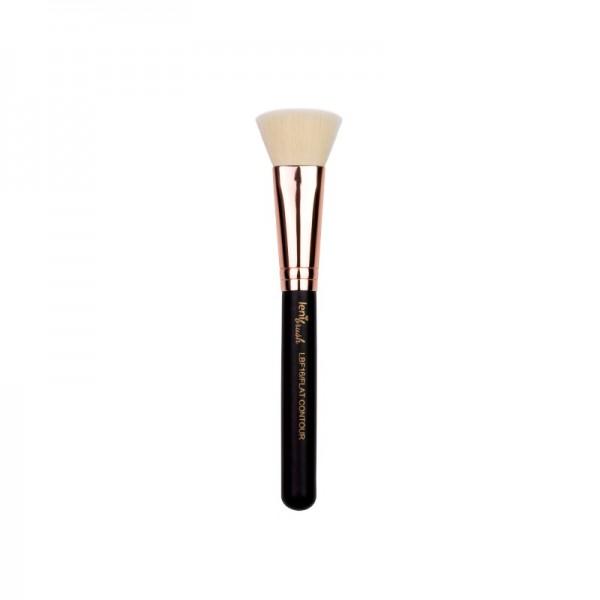 lenibrush - Kosmetikpinsel - Flat Contour Brush - LBF16 - Matte Black Edition