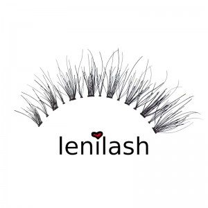 lenilash - False Eyelashes - Black - Human Hair - Nr.145