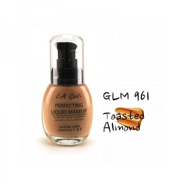 LA Girl - Foundation - Perfecting Liquid Makeup Oil Free - Toasted Almond