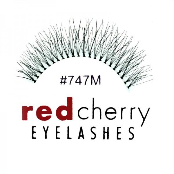 Red Cherry - False Eyelashes No. 747M Birmingham - Human Hair