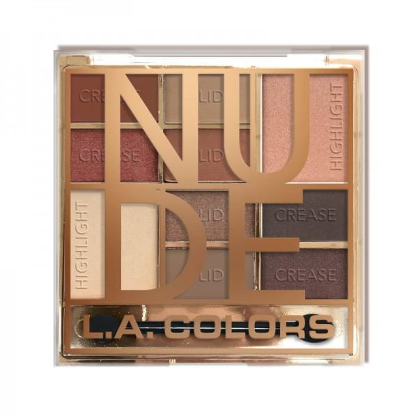 LA Colors - Lidschattenpalette - Color Block Eyeshadow - Nude
