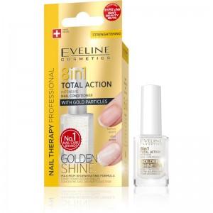 Eveline Cosmetics - Pflegelack - Nail Therapy Conditioner 8 In 1 Golden Shine