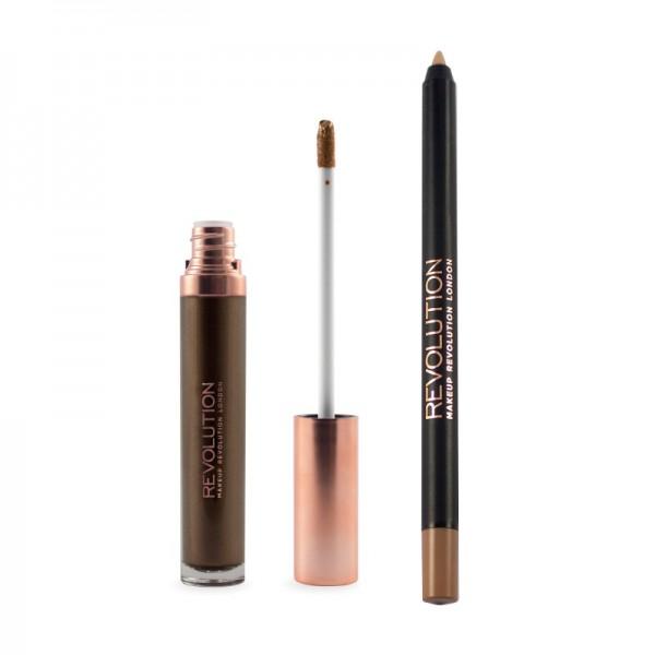 Makeup Revolution - Liquid Lipstick - Retro Luxe - Metallic Lip Kit - Sovereign