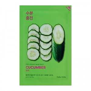 Holika Holika - Gesichtsmaske - Pure Essence Mask Sheet - Cucumber