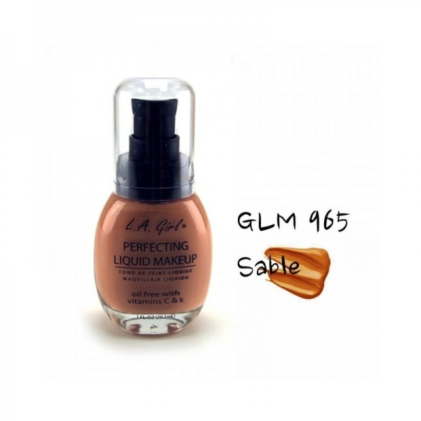 LA Girl - Foundation - Perfecting Liquid Makeup Oil Free - Sable