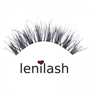 lenilash - Falsche Wimpern - Schwarz - Nr.128 - Echthaar