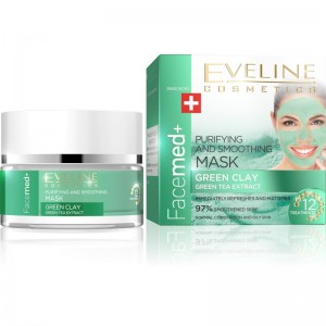 Eveline Cosmetics - Facemed Purifying And Smoothing Mask Green Clay
