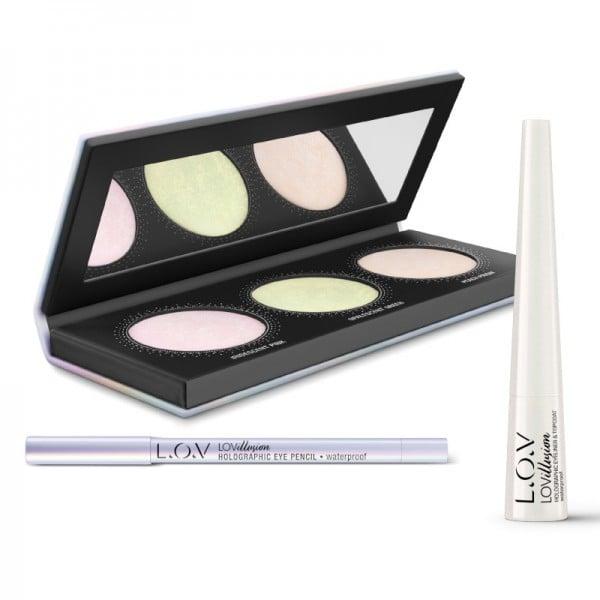 L.O.V - online exclusive - LOVILLUSION holographic makeup set