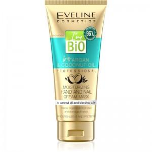 Eveline Cosmetics - Handcreme - Bio Argan & Coconut Oil Hand & Nail Cream-Mask