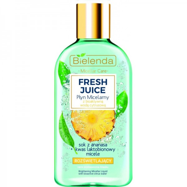 Bielenda - Fresh Juice Brightening Micellar Liquid With Bioactive Citrus Water Pineapple Juice