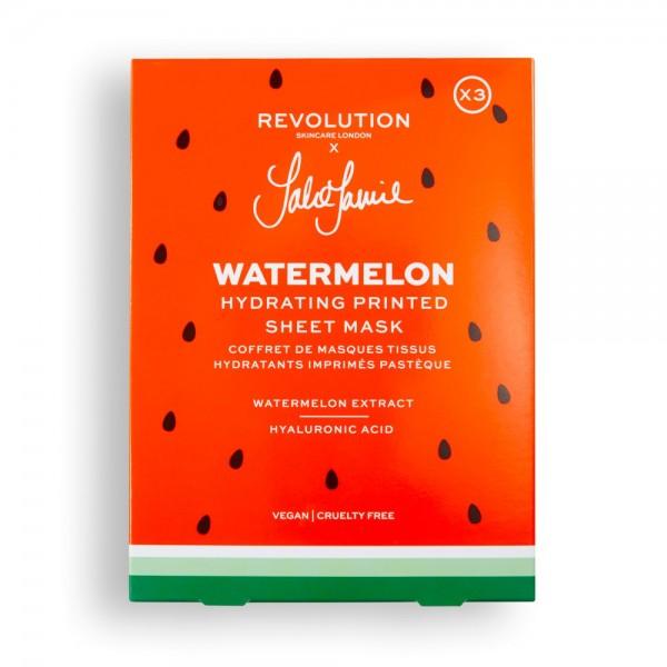Revolution - Tuchmasken Set - Skincare x Jake Jamie Watermelon Printed Hydrating Sheet Mask Set