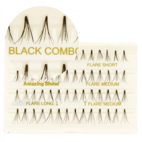 Amazing Shine - Wimpernset - Flare Combo Set - Nr. 685 - Black