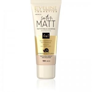 Eveline Cosmetics - Foundation - Satin Matt Mattifying & Covering Foundation - 104 Beige