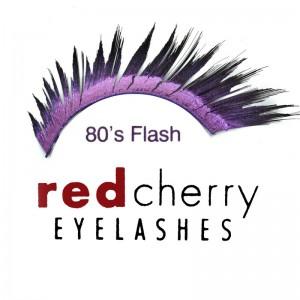 Red Cherry - False Eyelashes - Glitter - 80's Flash Black/Purple