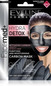 Eveline Cosmetics - Gesichtsmaske - Facemed+ reinigende und pflegende Maske mit Kohle 2X5Ml