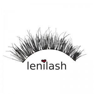 lenilash - False Eyelashes Black No. 135 - Human Hair