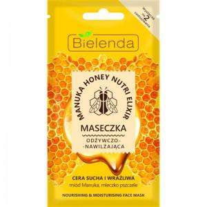 Bielenda - Maschere - Manuka Honey Nutri Elixir Face Mask For Dry And Sensitive Skin