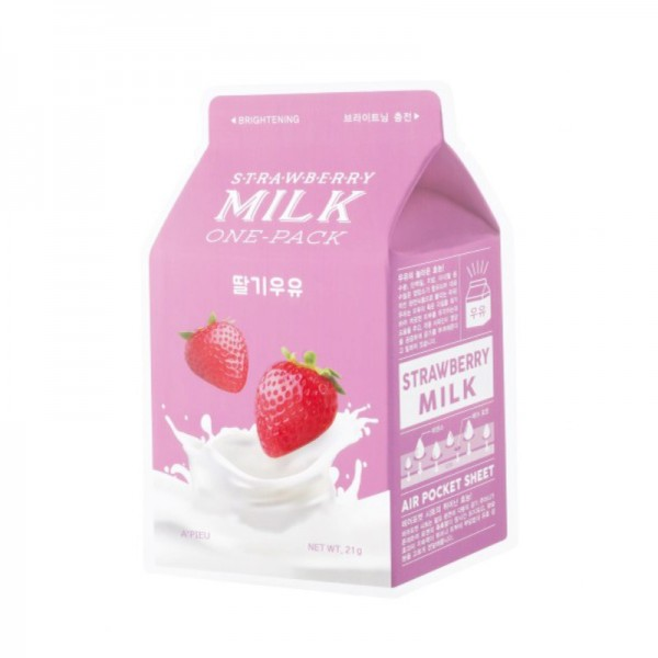 APIEU - Mask - Strawberry Milk One-Pack