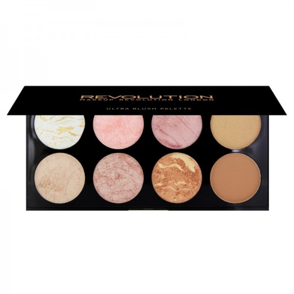 Makeup Revolution - Makeup Palette - Ultra Blush Palette - Golden Sugar