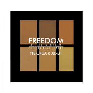Freedom Makeup - Concealer Palette - Pro Conceal Palette - Medium-Deep