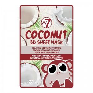 W7 - Gesichtsmaske - 3D Sheet Face Mask - Coconut