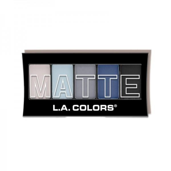 LA Colors - Lidschattenpalette - 5 ColorMatte Eyeshadow - Blue Denim