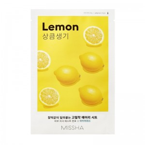 MISSHA - Gesichtsmaske - Airy Fit Sheet Mask - Lemon