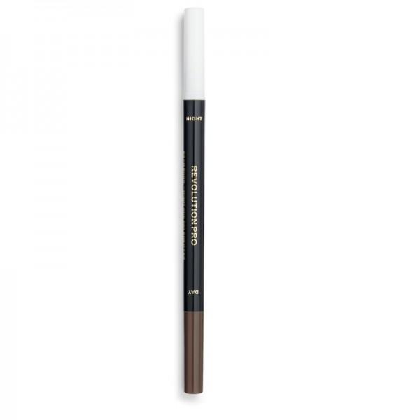 Revolution Pro - Augenbrauenstift - 24H Day & Night Brow Pen - Warm Brown