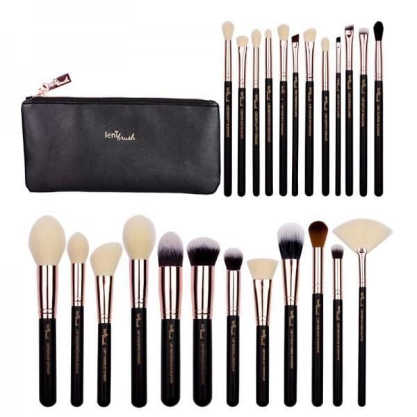 lenibrush - Kosmetikpinselset - Full Collection Set - Matte Black Edition