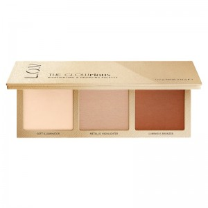 L.O.V - Makeup Palette - THE GLOWRIOUS highlighting & bronzing palette 010