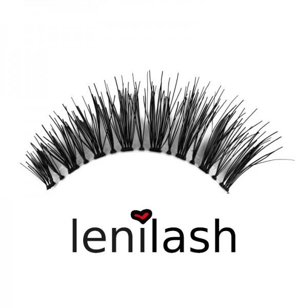 lenilash - False Eyelashes Black No. 119 - Human Hair