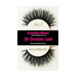 Amazing Shine - Falsche Wimpern - 3D Double Lash - DB13 - Echthaar
