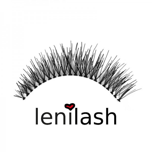 lenilash - False Eyelashes Black No. 121 - Human Hair