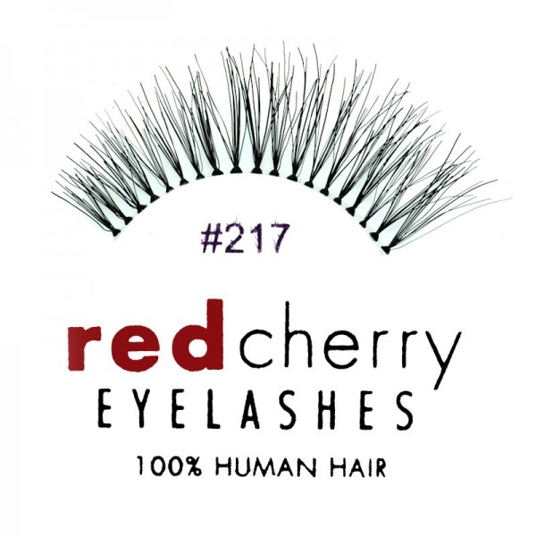 Red Cherry - False Eyelashes No. 217 Trace - Human Hair