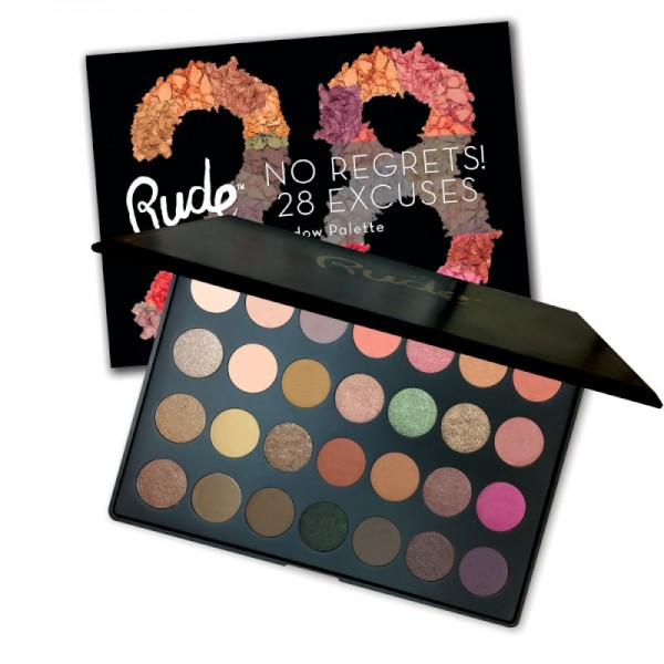 RUDE Cosmetics - Lidschattenpalette - No Regrets! 28 Color Eyeshadow Palette - Virgo
