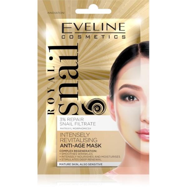 Eveline Cosmetics - Gesichtsmaske - Royal Snail Intensely Regenerating Anti-Age Sheet Mask