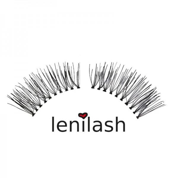 lenilash - False Eyelashes - Black - Human Hair - Nr.136