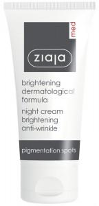 Ziaja Med - Aufhellende Anti-Pigmentflecken Nachtpflege - Brightening Anti Wrinkle Night Cream