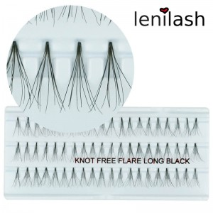 lenilash - Knotenfreie Einzelwimpern  Flare Long Black ca. 15 mm