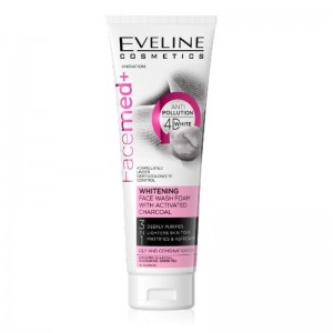 Eveline Cosmetics - Reinigungsschaum - Facemed - Whitening Face Wash Foam With Activated Charcoal