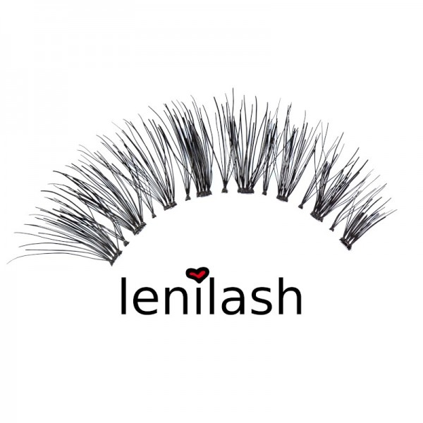 lenilash - False Eyelashes - Black - Human Hair - Nr.155