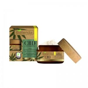 Bielenda - Crema viso - CBD Cannabidiol Moisturizing And Detoxifying Face Cream For Mixed And Greasy Skin 50ml