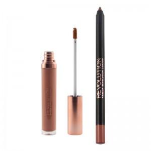 Makeup Revolution - Flüssiger Lippenstift - Retro Luxe - Gloss Lip Kit - Truth